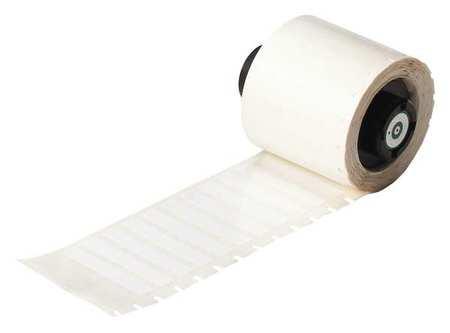 "1-1/2"" x 1/4"" White Printer Label,  Polyester"
