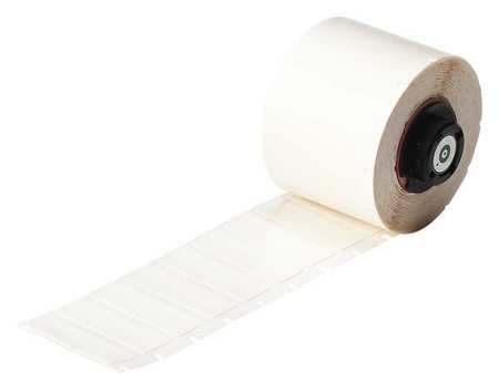 "1-1/2"" x 1/2"" White Printer Label,  Polyester"