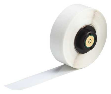 "1/2"" x 50 ft. White  Label Tape Cartridge,  Permanent Polyester B423"