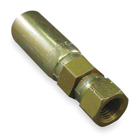 Fitting, Straight, 1/4 In Hose, 1/2-20 JIC