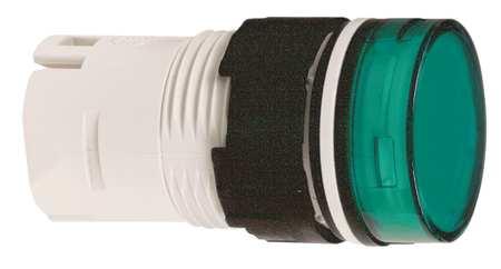 Pilot Light Head, Green, LED