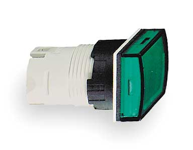 Pilot Light Head, Green, LED