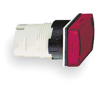 Pilot Light Head, Red, LED