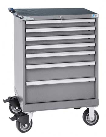 Mobile Workbench Cabinet, 43-1/4 In. H