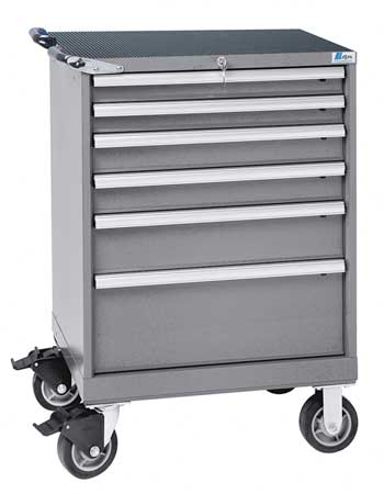 Mobile Workbench Cabinet, Light Gray