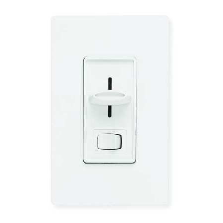 Lighting Dimmer, Slide, 1-Pole, Rocker, Wht