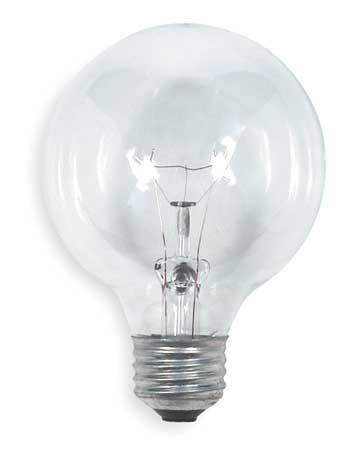 GE LIGHTING 40W,  G25 Incandescent Light Bulb