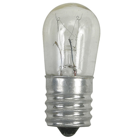 GE LIGHTING 6.0W,  S6 Incandescent Light Bulb