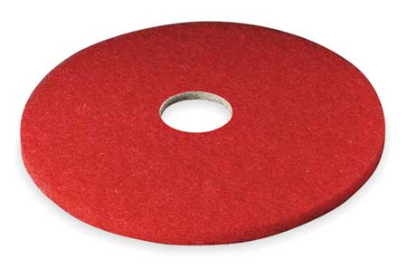 Buffing Pad, 12 In, Red, PK5
