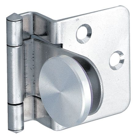 Glass Door Hinge, Stainless Steel, 100 Deg