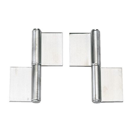 Lift-Off Hinge, Satin, 5-63/64x4-21/64 In.