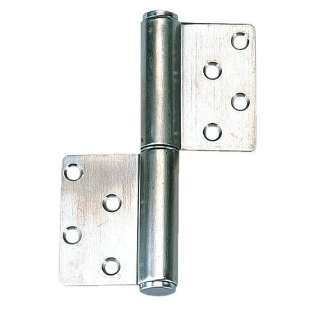 Lift-Off Hinge, Satin, 4-1/64 x 3-15/16 In