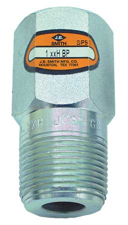 Hex Head Bull Plug, 3/4 In, NPT, Steel