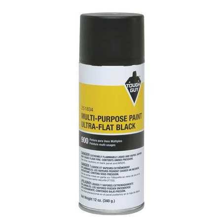Spray Paint, Ultra Flat Black, 12 oz.