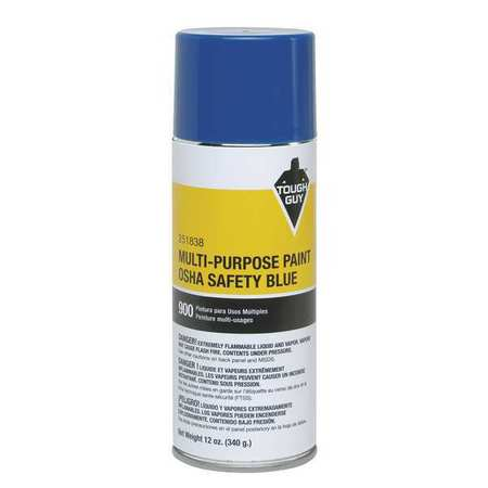 Tough guy spray paint osha safety blue 12 oz 251838 for Spray paint safety