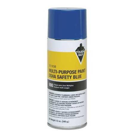 Spray Paint, OSHA Safety Blue, 12 oz.