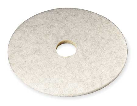 Burnishing Pad, 27 In, White, PK5