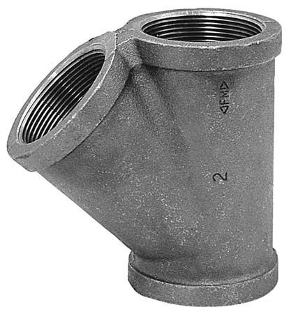 Wye, Black Malleable Iron, 150, 1 In., NPT