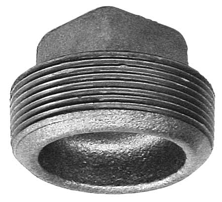 "4"" MNPT Cored Square Head Plug"