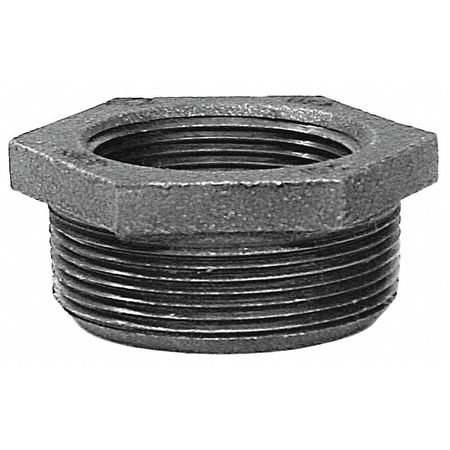 "4"" MNPT x 1"" FNPT Malleable Iron Hex Bushing"