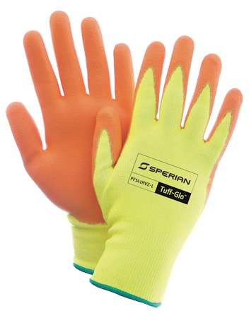 Cut Resistant Gloves, Yellow/Orange, XL, PR
