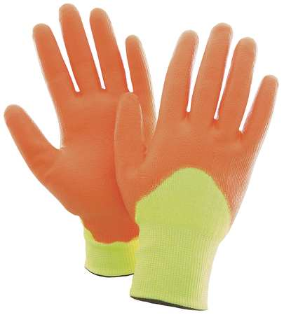 Cut Resistant Gloves, Yellow/Orange, M, PR