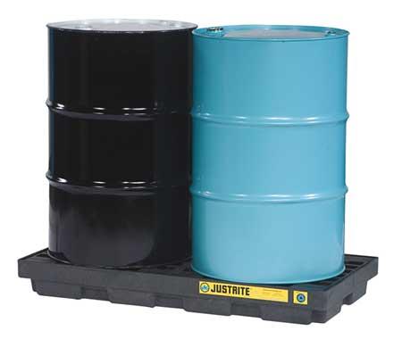 Drum Spill Cntnmnt Pallet, 2 Drum, 2.5k lb