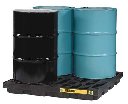Drum Spill Cntnmnt Pallet, 4 Drum, 5k lb.