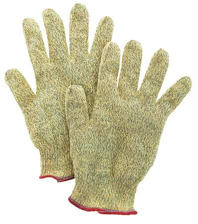Cut Resistant Gloves, Yellow/Black, S, PR