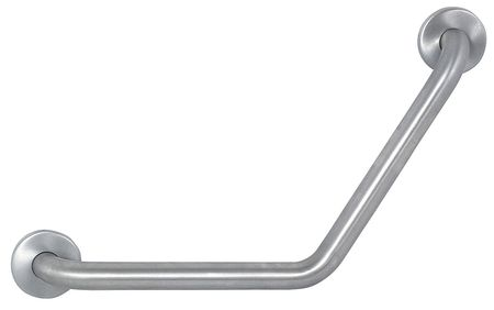 Safety Rail/Bar, Satin, 24x12x12, 1 1/2 Dia