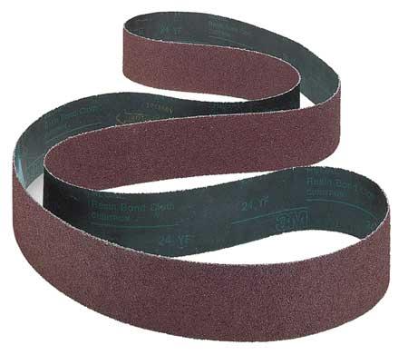 Sanding Belt, 1/2 In Wx24 In L, AO, 160GR