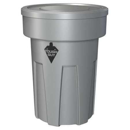 25 gal. Gray Round Utility Container