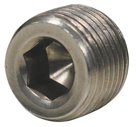 "3/8"" MNPT SS Hex Socket Plug"
