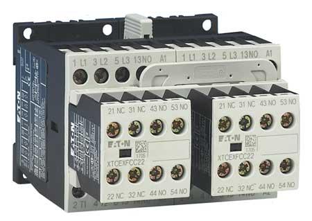 IEC Magnetc Cntactr, 480VAC, 7A, 1NC/2NO, 3P