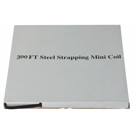 Steel Strapping, 5/8 In, L 300 Ft