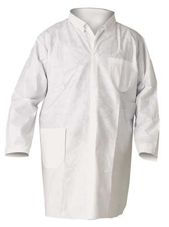 Disp. Lab Coat, L, SMS, PK25