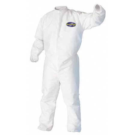 Collared Disp. Coveralls, White, 4XL, PK21