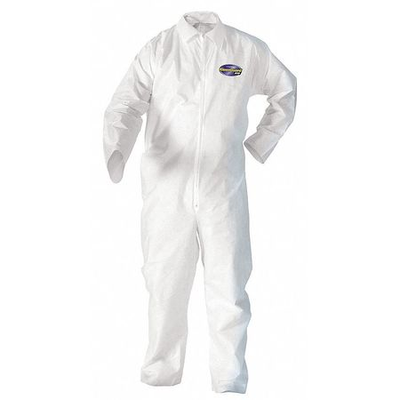 Collared Disp. Coveralls, White, XL, PK24