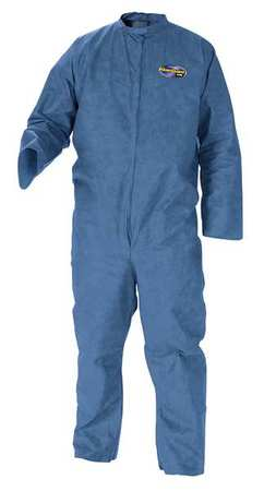 Collared Disp. Coveralls, Blue, 4XL, PK20