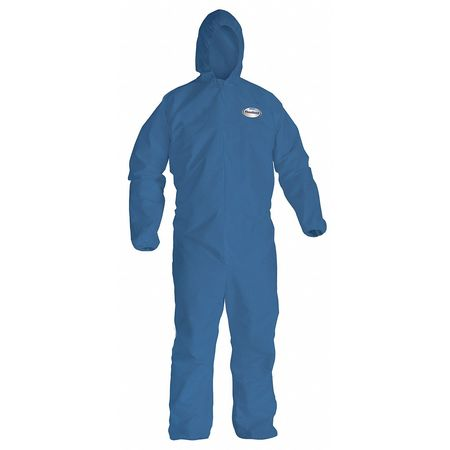 Hooded Disp. Coveralls, Blue, XL, PK24