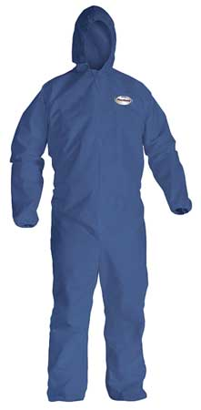 Hooded Disp. Coveralls, Blue, L, PK24