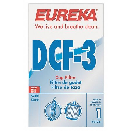 Filter, Dust Cup Filter, 6 In. L