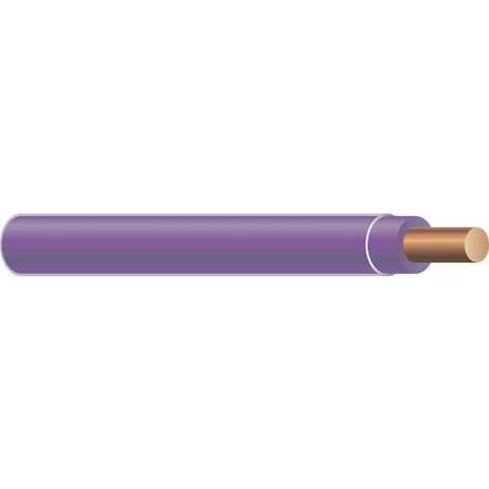 Building Wire, THHN, 12 AWG, Purple, 500ft