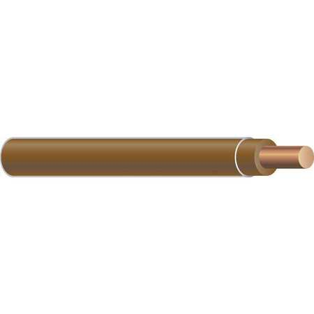 Building Wire, THHN, 10 AWG, Brown, 500ft