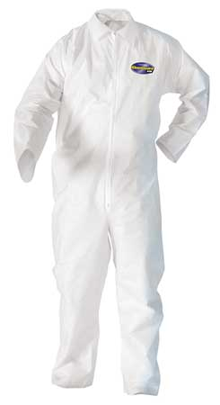 Disposable Coveralls, White, M, PK24