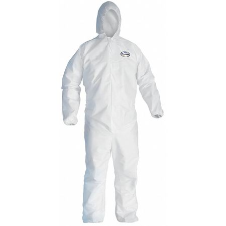 Hooded Disp. Coveralls, White, 4XL, PK21