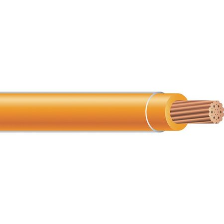 Building Wire, THHN, 10 AWG, Orange, 2500ft