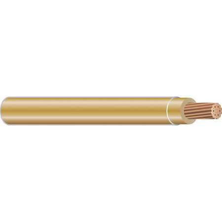 Building Wire, THHN, 14 AWG, Tan, 500ft