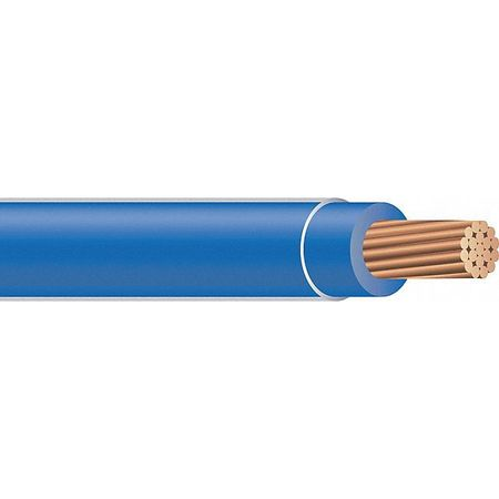 Building Wire, THHN, 10 AWG, Blue, 2500ft