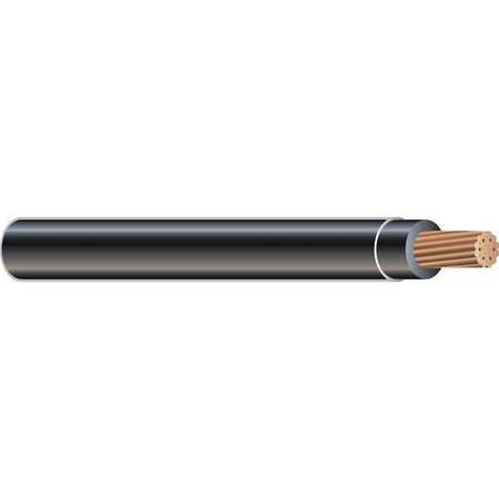 Building Wire, THHN, 8 AWG, Black, 100ft
